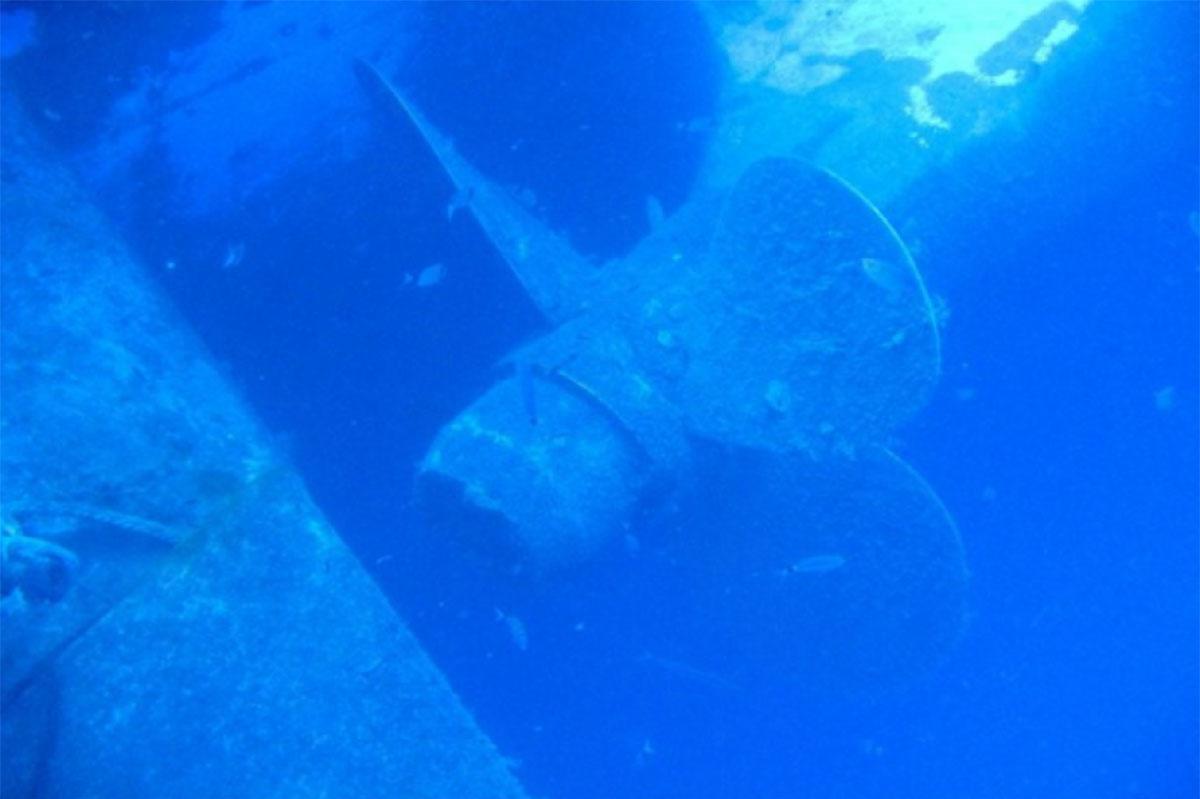 Zenobia starboard propeller