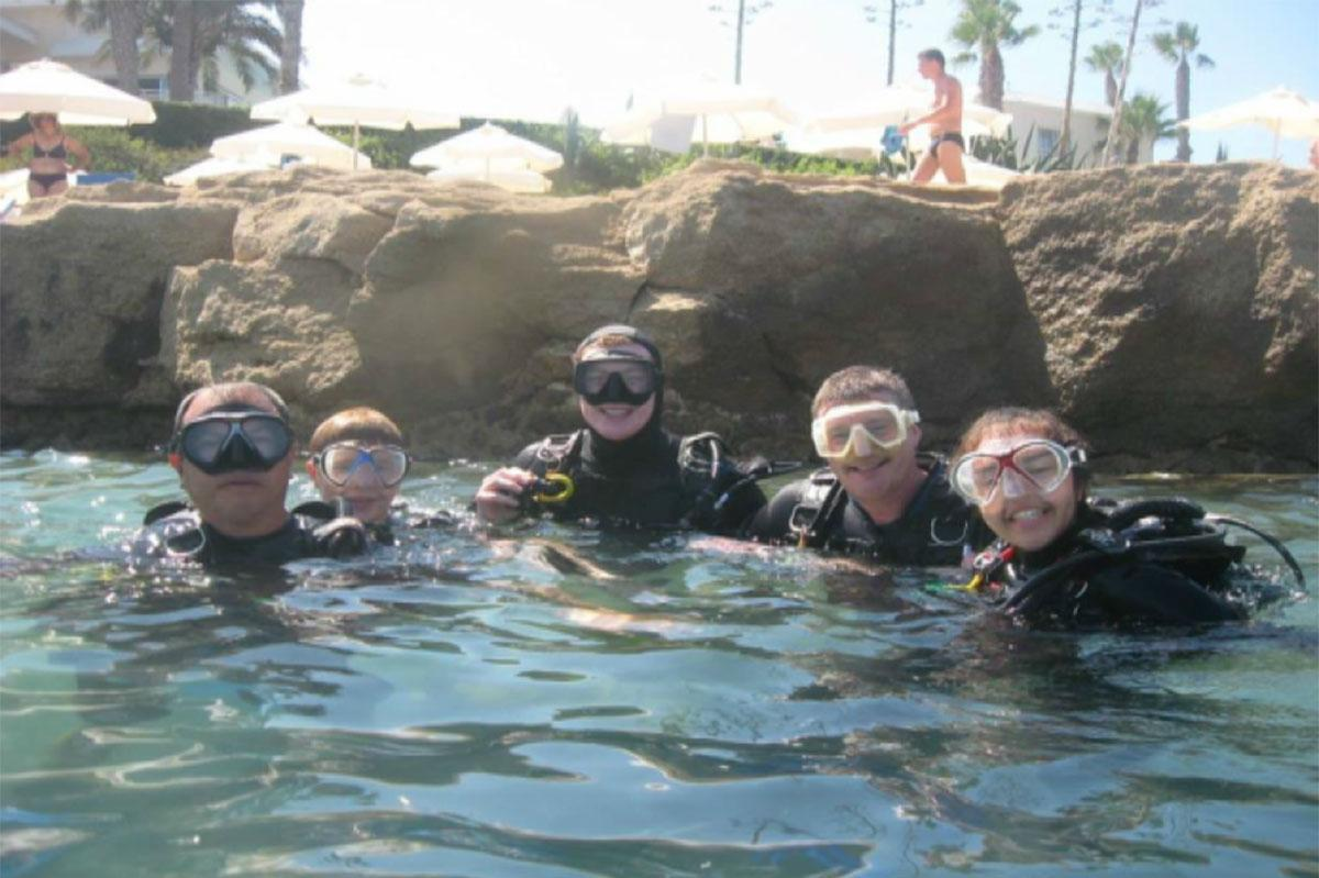 Family Discover Scuba Diving Paphos