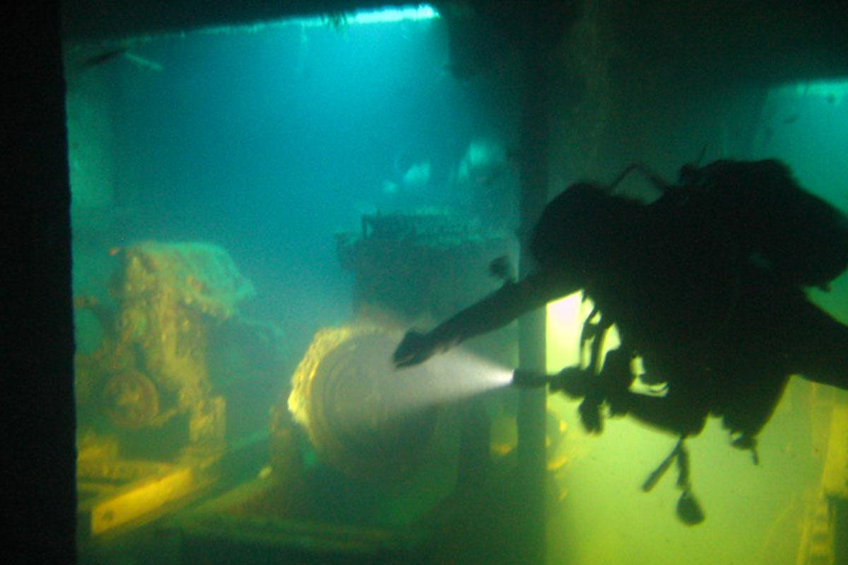 Diving on the wrecks in Limassol