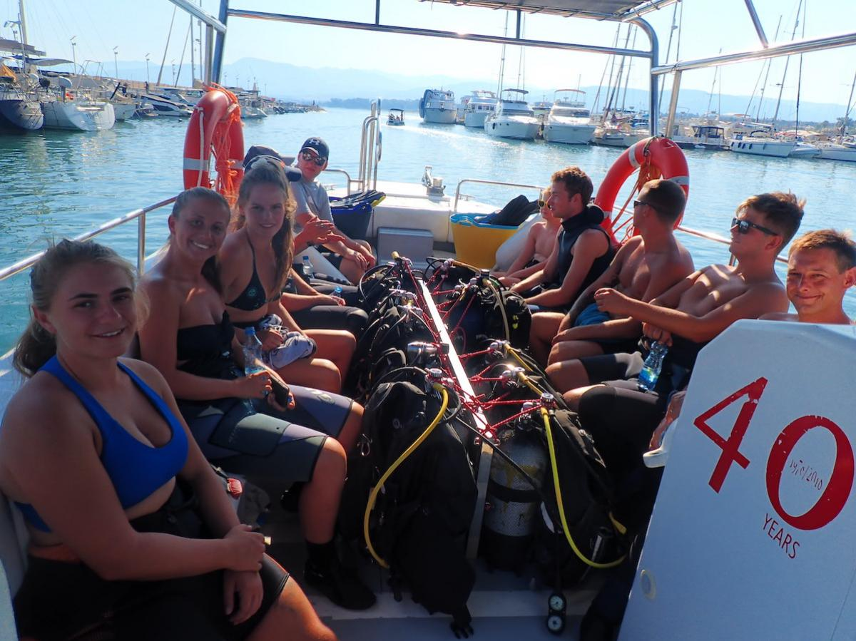 Dive Boat to St George's Island, Akamas National Park