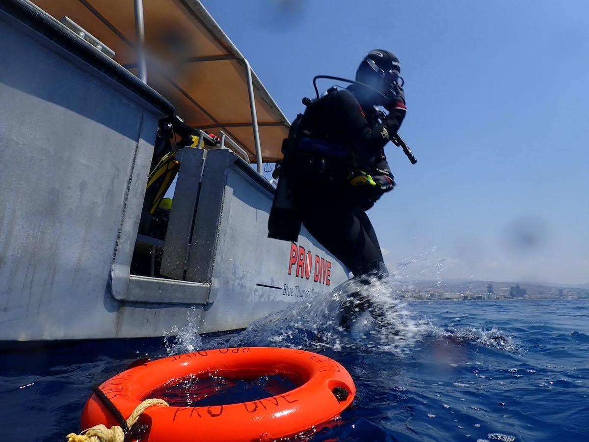 Hard Boat on the Limassol Wrecks