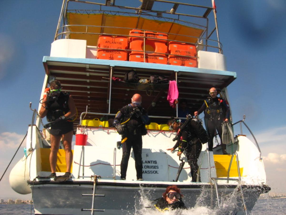 Getting ready to dive the Zenobia