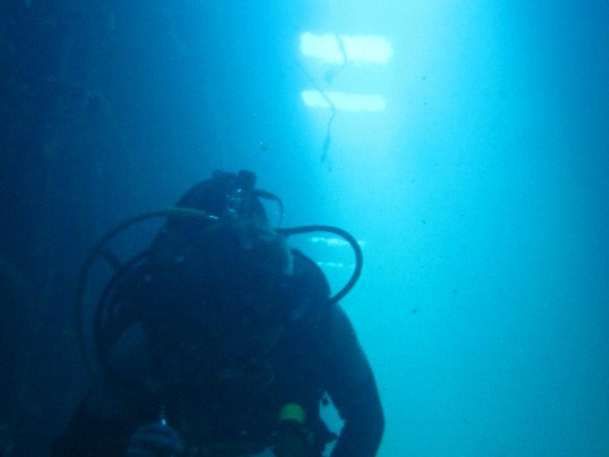 Accommodation swim through on the Zenobia