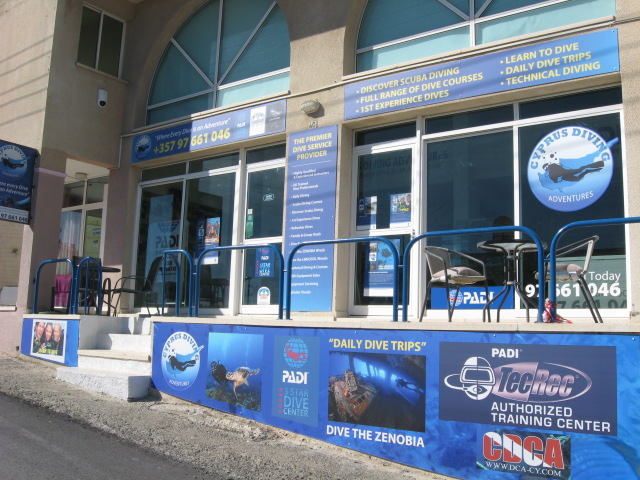 Our Dive Center in Pissouri