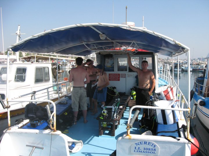 One of our Zenobia dive boats