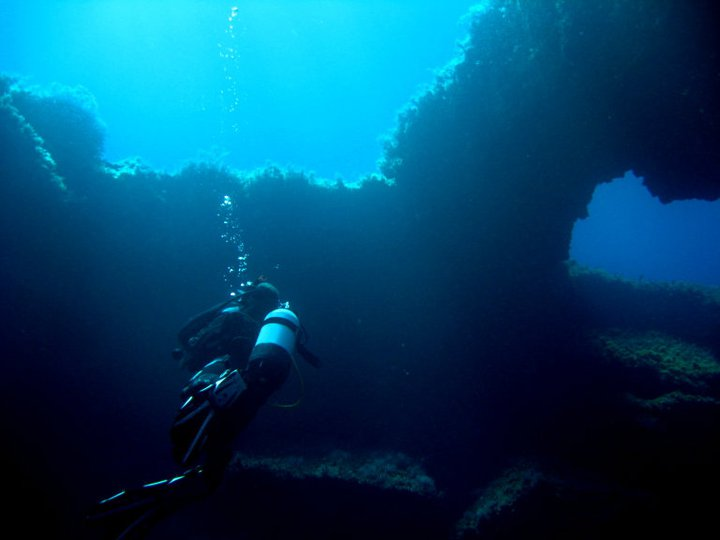 Diving in Paphos on Manijin Island